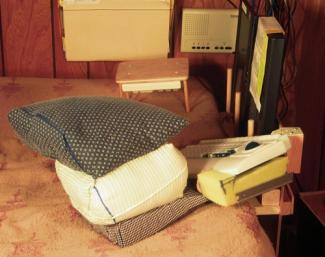 pillow armrest with keyboards and stilt